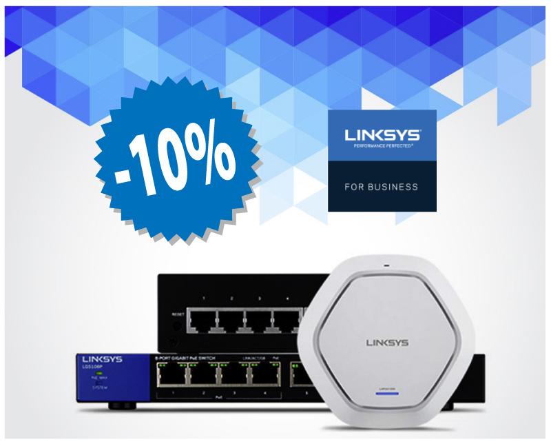 10% отстъпка - LINKSYS SMALL BUSINESS продукти, Комел Софт Мултимедия