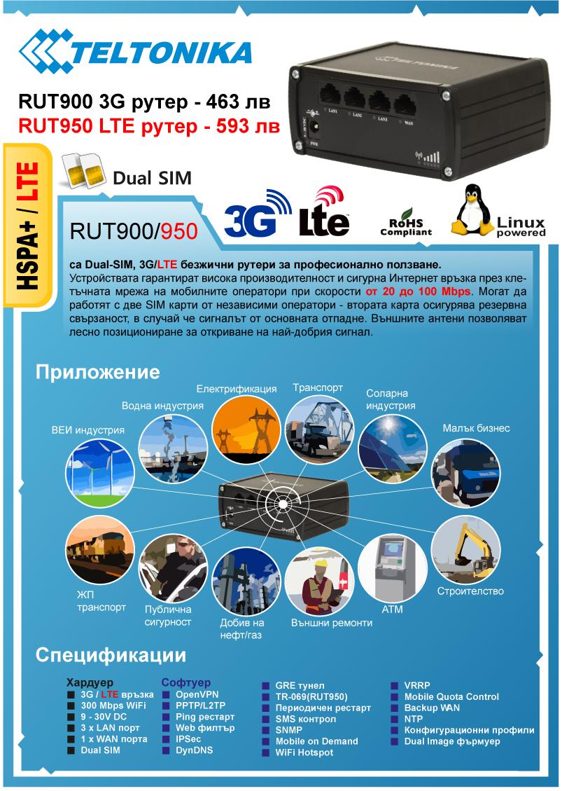Индустриални 3G/LTE рутери TELTONIKA